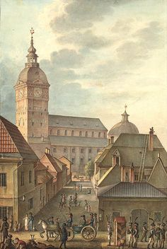 / Turku Cathedral, Finland, with its old tower before the great fire. Cool Places To Visit, Places To Travel, The Great Fire, City Vibe, House Landscape, Place Of Worship, Types Of Houses, Art And Architecture, Old Town