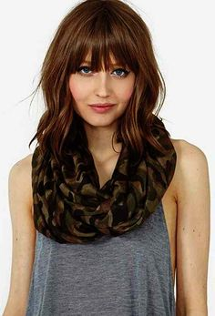 brown mid length hair for square faces - Google Search
