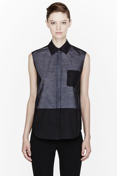 alexander wang | two-tone layered blouse $395