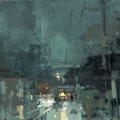 "Instagram media by redrabbit7 - ""Cityscape - Composed Form Study 1"" 6 x 6 in. Oil on Panel"