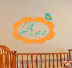 Childrens Wall Decals SMALL   Baby Name Decals   by LucyLews, $18.00