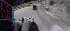 Downhill Luge Set To Mario Kart Music Is Amazing