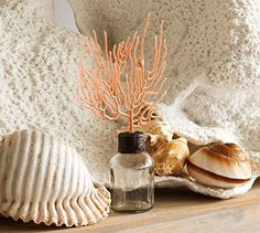 Coral Topped Bottles #potterybarn