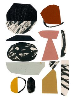 claire softley - These stunning collages by Claire Softley create a pattern of cats, potted plants and abstract geometric shapes. Collages, Collage Art, Digital Collage, Collage Illustration, Illustrations, Modern Art, Contemporary Art, Cactus Drawing, Painting & Drawing