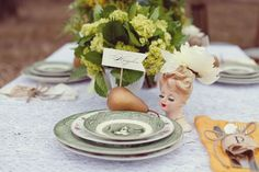 TablescapePhotos - My China ~ mismatched china for rent - RENT MY DUST Vintage Rentals Dallas Texas