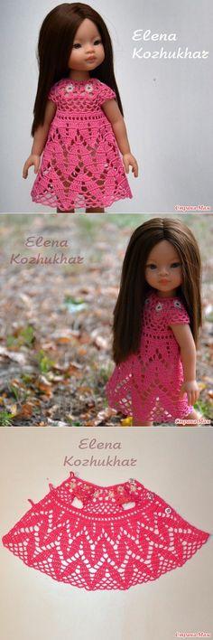 Платье 'Фламинго' для куклы от Paola Reina | Мастер-класс в ролике - Вязание - Страна Мам