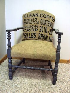 A Refinished Life: Burlap Coffee Sack Chair