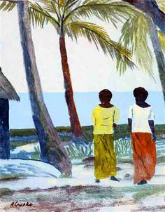 Ray Crooke, Galeria Aniela the world's local fine art gallery Vibrant Colors, Colours, Tropical Art, Australian Artists, Museum Collection, Fiji, Fine Art Gallery, Impressionist, Touring