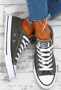 Chuck Taylor Converse All Star Charcoal Trainers | Pink Boutique