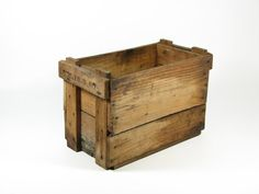 Vintage Small Wooden Crate Wood Box