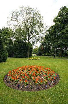 Flower borders in Runcorn Town Park
