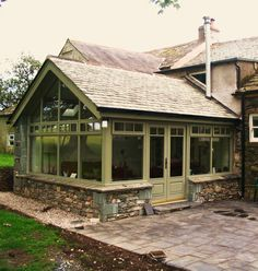 Neat garden room, materials in keeping with the main house. Woodstyle Joinery