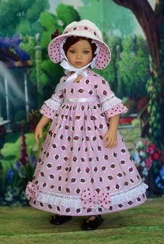 """My Rose Garden"" Regency Dress, Outfit for 20"" Dianna Effner Maru & Friends  #LuminariaDesigns"