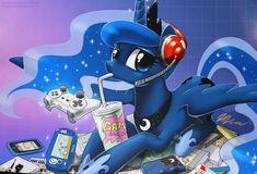 Gamer Luna - By: John Joseco by *Bernd01 on deviantART