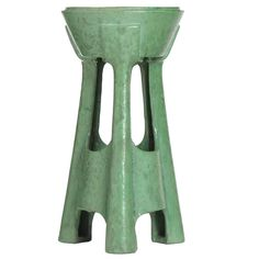 Ceramic Stand by Teco Pottery | From a unique collection of antique and modern end tables at https://www.1stdibs.com/furniture/tables/end-tables/