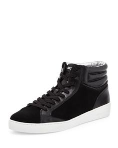 Paige Sport Suede High-Top Sneaker, Black by MICHAEL Michael Kors at Neiman Marcus.
