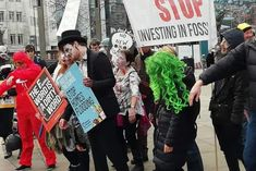'Zombies' march in Leeds against fossil fuels and fracking