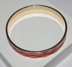 Vintage Bangle Bracelet Red and Orange by EASTandWESTJewelry, $12.95