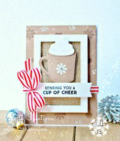 card cup mug christmas MFT hot cocoa cups coffee latte die-namics Crafty Creations with Shemaine Christmas Cards 2017, Simple Christmas Cards, Christmas Makes, Xmas Cards, Holiday Cards, Christmas Coffee, Cards Diy, Coffee Cards, Send A Card