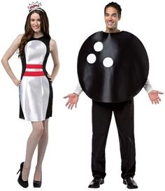 lets bowl bowling ball and pin dress adult couple costumes fnt - Magic 8 Ball Halloween Costume