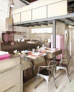 Feminine Industrial Kitchen