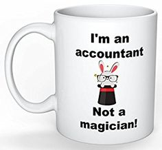 Amazon.com: Funny Mugs For Accountants, Perfect Thank You Gift or Reward For Your Hardworking Spouse During Tax Season - Printed on Front and Back: Kitchen & Dining