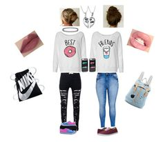 """The Best Friends Outfit"" by brendonurierules on Polyvore featuring Bling Jewelry, JFR, City Chic, Vans, Converse, Pandora, NIKE and Paul & Joe Sister"