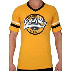 Pistol Pete Champions Short Sleeve Tee T-Shirt Yellow Champion, Pistol Pete, Short Sleeve Tee, Tank Tops, Yellow, Stylish, Tees, Casual, T Shirt