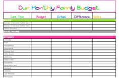 Household Budget Template Printable Fresh Free Monthly Bud Template Cute Design In Excel