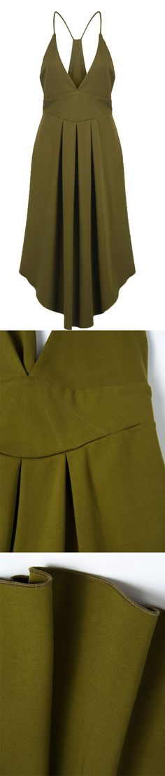 Army green maxi dress is perfect to wear with other fall styles, like jacke, coat and sweater.Welcome to chiclookcloset.com, find more fall styles.