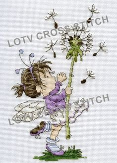LOTV - Time Flies Cross Stitch. For more details visit http://www.liliofthevalley.co.uk/acatalog/Cross-Stitch-Charts.html