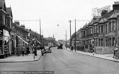 Photo of Enfield, Lancaster Road from Francis Frith Enfield Middlesex, Enfield Town, Greater London, Vintage London, Family Memories, Photo Online, Black White Photos, Lancaster, Historical Photos