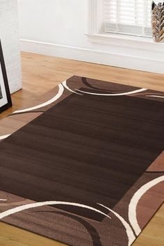 Contemporary Rugs, Modern Rugs, Trendy Colors, Vivid Colors, Cheap Rugs, Machine Made Rugs, Brown Rug, Round Rugs, White Rug