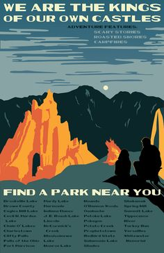 WPA Poster: Indiana State Parks on Behance