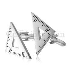 Triangular Ruler Cufflinks-CL-0061 CuffLinksMan. $24.95