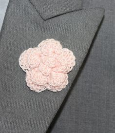 New to LittleMonkeyShop on Etsy: Mens Lapel Flower Buttonhole Flower Mens Boutonniere - Wedding Boutonniere Prom  - Rose - Light Baby Pink (10.00 USD)