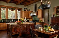 Famous Kitchens 2012 | Andie MacDowell's Tudor-StyleKitchen!!! 'Cherie