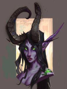 Female Demon Hunter Face from World of Warcraft: Legion