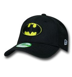 The 97% acrylic 3% spandex Batman Symbol Kids 39Thirty Cap is your standard issue black hat featuring a black and yellow symbol for the kiddies! From DC Comics and New Era.