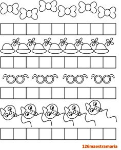 Colora le caselle Simple Math, Worksheets, Carnival, Preschool, Diagram, Education, Pattern, Kids, Graphing Activities