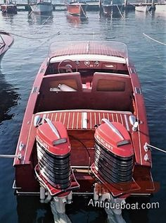 Old Boats, Small Boats, Chris Craft Wooden Boats, Wooden Speed Boats, Cruiser Boat, Runabout Boat, Classic Wooden Boats, Wooden Boat Building, Boat Engine