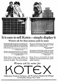 kotex sanitary napkin ad may 1921 and the first kotex ad campaign images of woman pinterest. Black Bedroom Furniture Sets. Home Design Ideas
