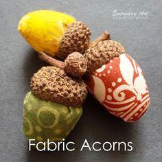Fabric Acorns Sewing Tutorial