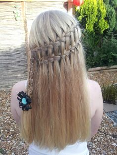 Waterfall braid with a pretty clip from Www.brionisboutique.co.uk ♥