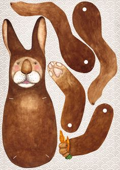 Osterhase als Hampelmann, conejo