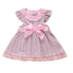 Princess Baby Girls Dress Foral Summer Girl Dresses Top Quality 100%Cotton Bow Infant Dress for Toddler Clothing
