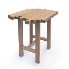 WHITE OAK END TABLE | end table, Tetris table, modern table, oak table | UncommonGoods