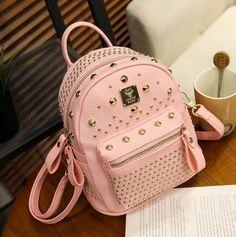 Radish Stars PU Mini laser Backpack Hangbag for Teen Girls and Women
