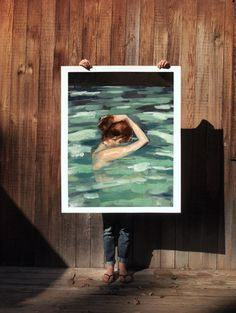 My Home is the Sea .  extra large wall art . giclee print