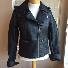 NWT American Eagle Vegan Leather Moto Jacket Such a classic piece! Bummed it doesn't fit me like I wanted it to. My loss is your gain! I paid full price for this baby. American Eagle Outfitters Jackets & Coats